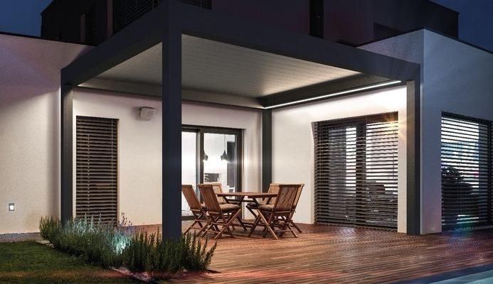 Integriertes Licht für Lamellendach