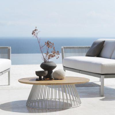 Outdoor Loungetisch rund geformt